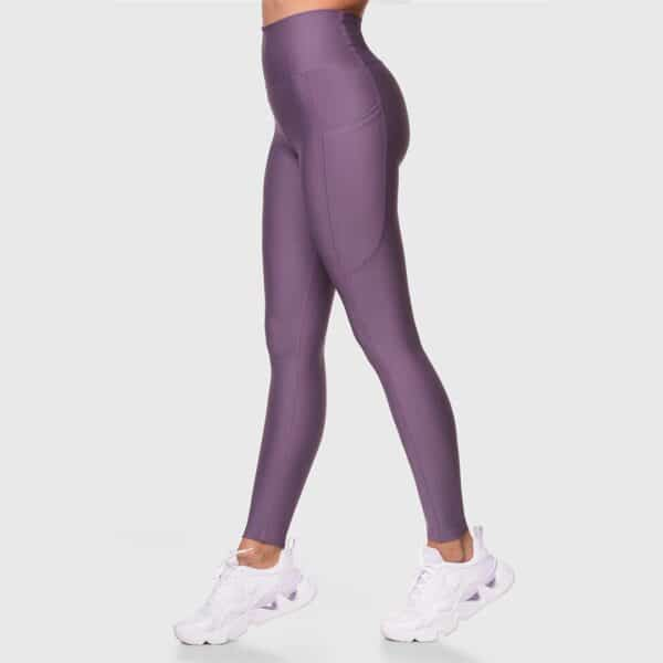 High Waisted Pocketed Lilac Sports Tights 2476-27