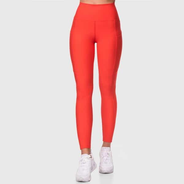 High Waisted Pocketed Red Sports Tights 2476-30Nar